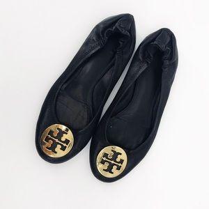 Tory Burch : Black Ballet Flats Size 8